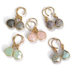 Moodtherapy Jewelry - New: Turquoise Gemstone Briolette Earrings